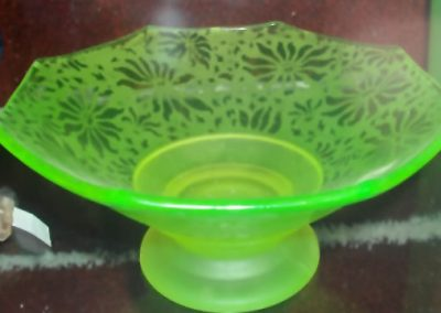 Large Uranium Glass Bowl