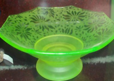 Large Uranium Glass Bowl
